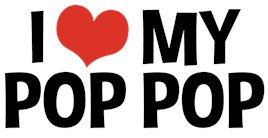 I Love My Pop Pop t-shirts