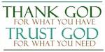 Thank God - Trust God