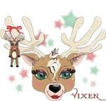 Vixen with a Rudolph ornament