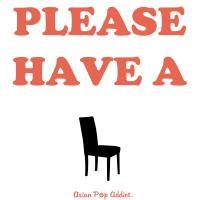 Please Have A Seat. (Orange)