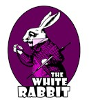White Rabbit Logo Plum