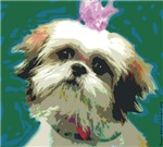 Shih Tzu with Pink Bow