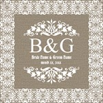 Personalized Bride And Groom Monogrammed Gifts
