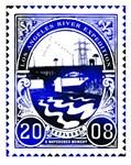 LA River Expedition blue stamp