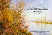 Alfred sisley Impressionist Painting: Nature Quote
