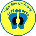 Baby Boy On Board Yellow
