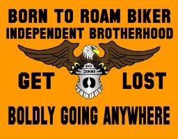 Born To Roam Bikers Signs