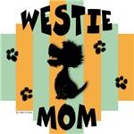 Westie Mom - Green/Orange Stripe