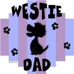 Westie Dad - Blue/Purple Stripe