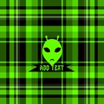 Alien Face Plaid