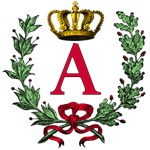 Regal Crown and Laurel Wreath Monogram Tote