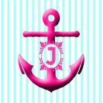 Stripes and Anchor Monogram Tote