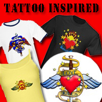 Tattoo Inspired Art on T-shirts, Mugs and Gifts