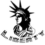 Graphic Statue of Liberty T shirts and Buttons