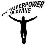 My Superpower is Diving T-shirts & Gifts