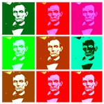 Pop Art Abe Lincoln T shirts