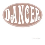 Dancer in Tan/Brown Oval