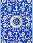 Blue Floral Mandala Pattern