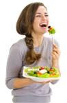 Laughing Salad Woman
