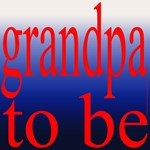108b. grandpa to be [red on blue grade]