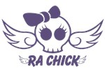 RA Chick Flying Skull