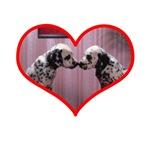 Dalmation Love Heart T-Shirts