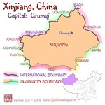 Xinjiang, China mini Map