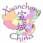 Xuancheng China Color Map