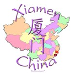 Xiamen China Color Map