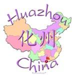 Huazhou China Color Map