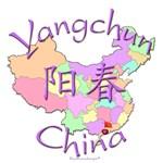 Yangchun China Color Map