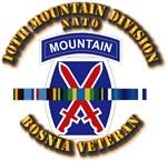 Army - Bosnia - 10th Mountain Div w Svc Ribbons