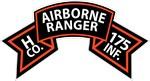 H Co 175th Infantry (Ranger) Scroll