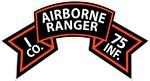 I Co 75th Infantry (Ranger) Scroll