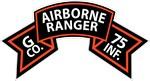 G Co 75th Infantry (Ranger) Scroll