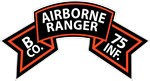 B Co 75th Infantry (Ranger) Scroll