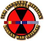 Army - 7th ID w Korean War SVC Ribbons