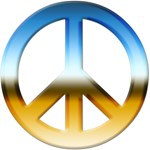 Blue and Gold Peace Sign