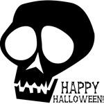 Skull Happy Halloween (Black)