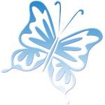 Blue Gradient Retro Butterfly