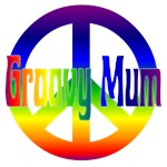 Groovy Mum with Peace Sign