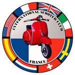 FRANCE VESPA SCOOTER FLAG T-SHIRTS & GIFTS