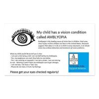 Amblyopia Info Cards