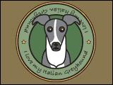I Love My Italian Greyhound (Grey)
