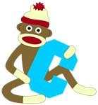 Sock Monkey Monogram Boy C
