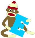 Sock Monkey Monogram Boy E