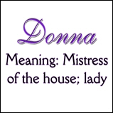 Donna - Name Meanings