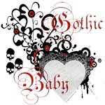 Gothic baby hearts and skulls