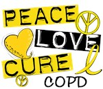 Peace Love Cure 1 COPD Shirts and Gifts