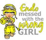 Combat Girl Endometriosis Shirts and Apparel